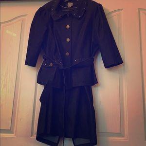 2pc dressy denim skirt set